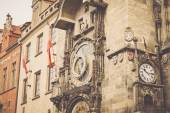 Square and astronomical clock — Stock Photo