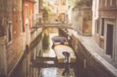 Kanál Itálie Benátky — Stock fotografie