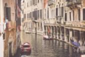 Wazig Venetië Italië Canal — Stockfoto