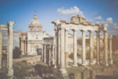 Roman Forum in Rome Italy — Stock Photo