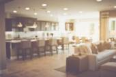 Blurred Kitchen Table and Couch with Instagram Style — Stock Photo