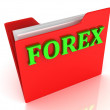 FOREX bright green letters on a red folder — Stock Photo #58729265
