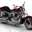 Top view. Motorcycle and chrome engine — Stock Photo #58732137
