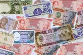 A collection of various currencies from countries — Stock Photo