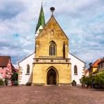 ������, ������: Marketplace in Bad Saulgau with St John Baptist Church Germany