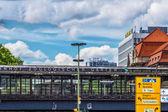 The Bahnhof Zoo, famous railway station in Berlin — Stock Photo