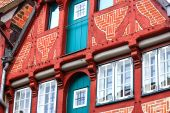Picturesque historic buildings in Old Town of Lueneburg, Germany — Stock Photo