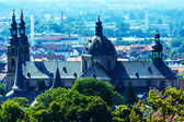 City Panorama with Cathedral in Fulda, Germany — Stock Photo
