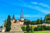 Cathedral Square with Michael Church in historical Fulda, Germany — Stock Photo