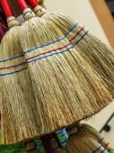 New straw broom — Stock Photo