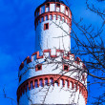 Castle Tower in Bad Homburg, near Frankfurt, Germany — Stock Photo #61186621