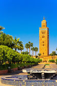 Minaret of the Koutoubia Mosque in Marrakech in the evening light — Stock Photo
