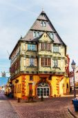 The Hotel Zum Riesen -one of Germanys oldest inns-built 1590 in Miltenberg, Bavaria, Germany — Stock Photo