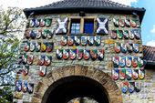 The Wachenburg in historical town Weinheim, Germany — Fotografia Stock