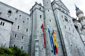 Neuschwanstein Castle, built 1869-1886 - Bavaria, Germany — Stock Photo