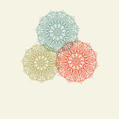 Colorful snowflakes. Holiday design. — Stockvector