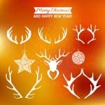 Set of silhouettes of deer antlers — Stock Vector #61613699