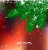 Holiday background with christmas tree — Stock Vector