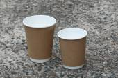 Disposable Coffee Cups Kraft — Stock Photo
