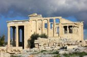 Ancient temple on the Acropolis in Athens. Greece. — Stock Photo