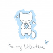 Sketch with cat — ストックベクタ