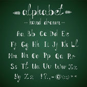 Alfabeto e punteggiatura lavagna — Vettoriale Stock
