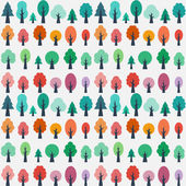 Seamless pattern with flat trees — Stock Vector
