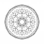Mandala. Round oriental pattern in indian style — Stock Vector