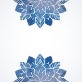 Watercolor floral blue pattern on white background — Cтоковый вектор