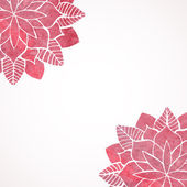 Watercolor pink lace floral patterns on white background. Vector — Stock Vector