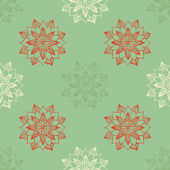 Seamless pattern with hand-drawn snowflakes — Stock Vector