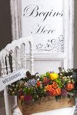 Impressive wedding setup — Stock Photo