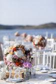 Impressive and beautiful wedding set up — Stock Photo