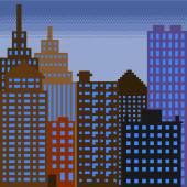 Pixel building 3 — Vettoriale Stock