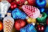 Christmas balls pile — Stock Photo