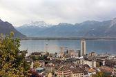 Beautiful City in swiss alps  — Foto de Stock