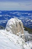 зимние горы сцены — Стоковое фото