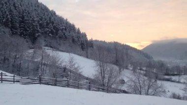 Rural winter landscape — Stock Video
