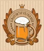 Beer barrel — Stock Vector