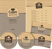 Casa de café — Vetor de Stock
