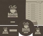 Jogo de café — Vetor de Stock