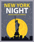 New york night — Stock Vector