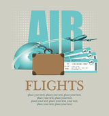 By plane around the world — Stock Vector