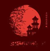 China night — Stock Vector
