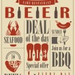 bier menu — Stockvector  #56534871