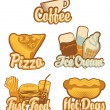Coffee and fast food — Stock Vector #57692413