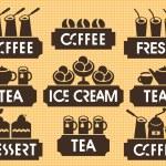 Tea coffee dessert — Stock Vector #59810777