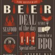 bier menu — Stockvector  #60700751