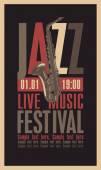 Jazz festival — Stock Vector