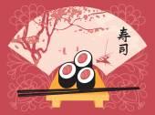 Sushi menu — Stock Vector